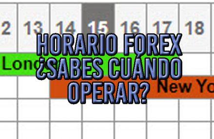 Horario Forex. Guía para operar cuando debes